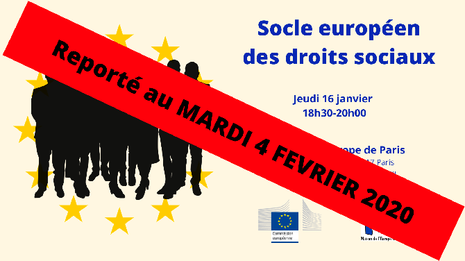 Reporté au 4 février – Socle européen des droits sociaux