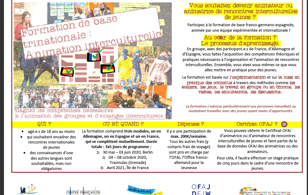 Formation franco-germano-espagnole : Animation interculturelle