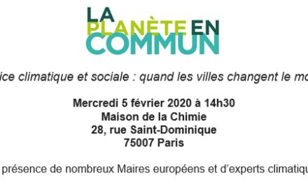 Conférence-débat – Justice climatique et sociale : quand les villes changent le monde