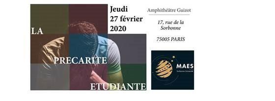 """La précarité étudiante : quelles solutions ?"""" 27/02/2020 – Master Affaires Européennes"""