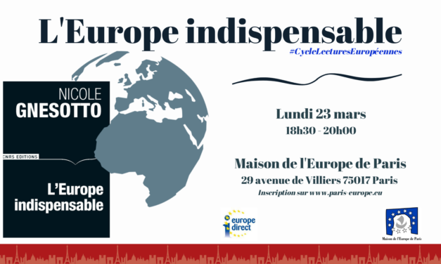 « L'Europe indispensable », CNRS Editions, 2019
