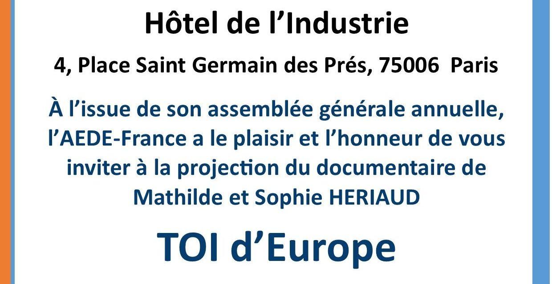 Projection «Toi d'Europe» – Samedi 07 mars