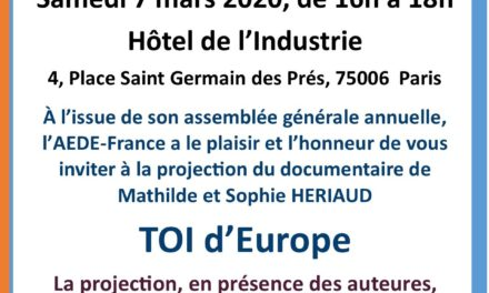 "Projection ""Toi d'Europe"" – Samedi 07 mars"