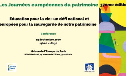 Education pour la vie : un défi national et européen pour la sauvegarde de notre patrimoine