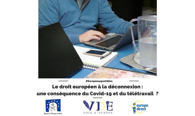Le droit européen à la déconnexion : une conséquence du Covid-19 et du télétravail ?