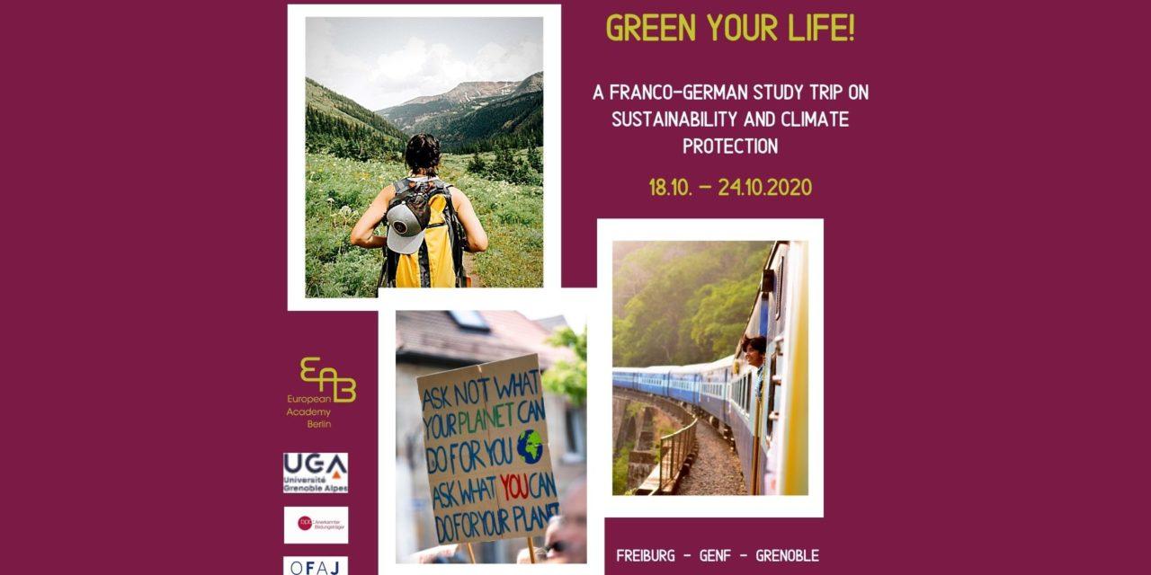 """Voyage d'étude """"Green your life"""" avec l'Académie européenne de Berlin"""