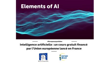 Intelligence artificielle : un cours gratuit financé par l'Union européenne lancé en France