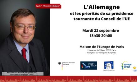 Webinaire du 22/09/20. L'Allemagne et les priorités de sa présidence tournante du Conseil de l'Union européenne