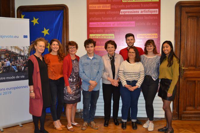 L'équipe de la Maison de l'Europe de Paris