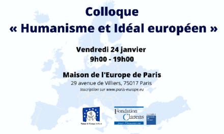 Colloque « Humanisme et Idéal européen »