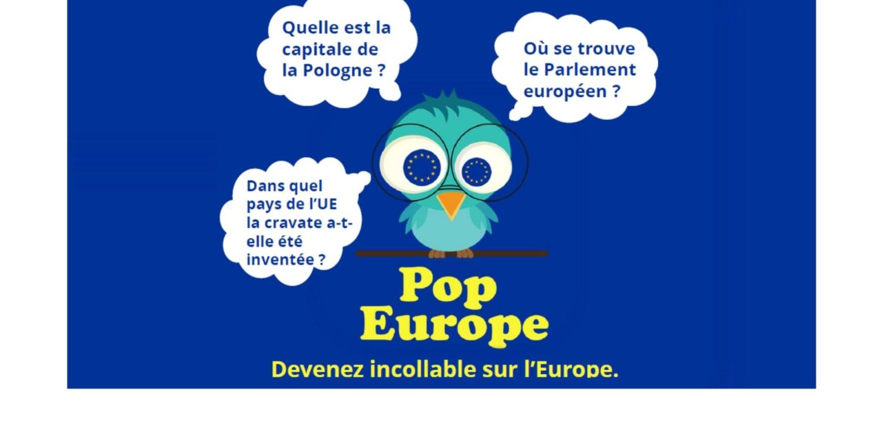 POP EUROPE, l'application pour mobile et tablette sur l'Europe – 2017