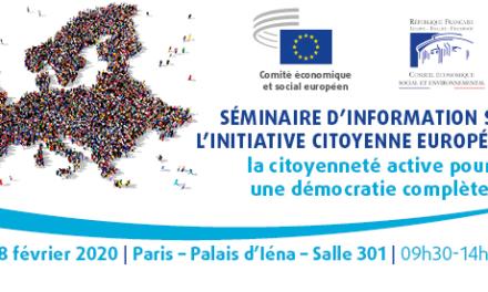 Séminaire d'information sur l'initiative citoyenne: La citoyenneté active pour une démocratie complète