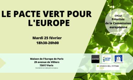 Le Pacte Vert pour l'Europe
