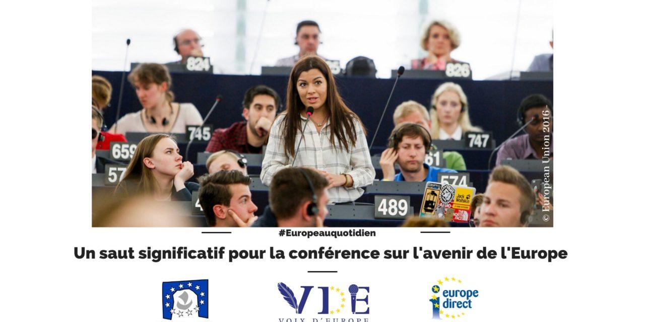 Un sauf significatif pour la Conférence sur l'avenir de l'Europe