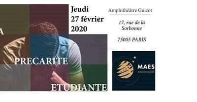 La précarité étudiante : quelles solutions ?» 27/02/2020 – Master Affaires Européennes