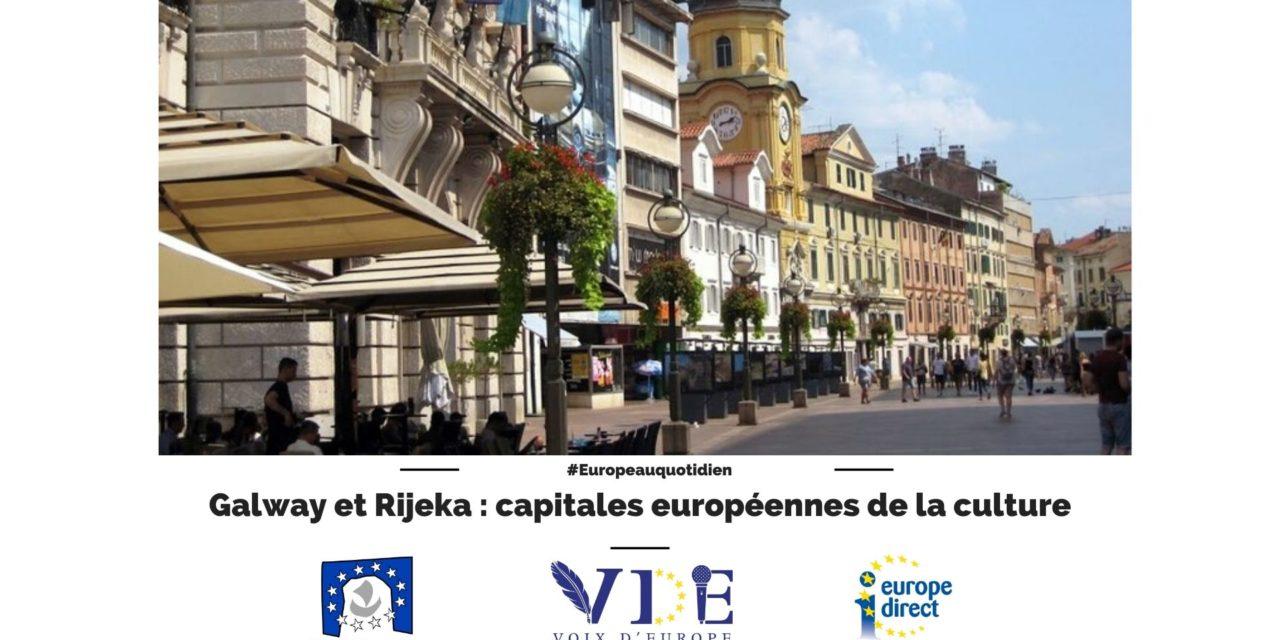 Galway et Rijeka : capitales européennes de la culture