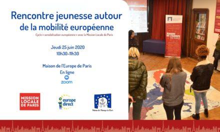 Rencontre jeunesse en ligne autour de la mobilité européenne