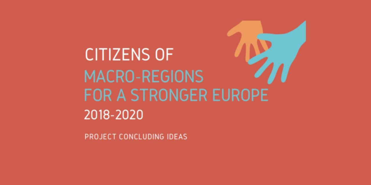 """""""Citizens of macro-regions for a stronger Europe"""" project 2018-2020"""