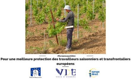Pour une meilleure protection des travailleurs saisonniers et transfrontaliers européens
