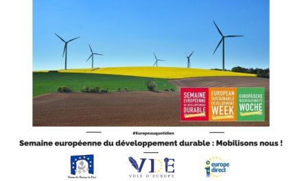 Semaine européenne du développement durable : Mobilisons-nous !