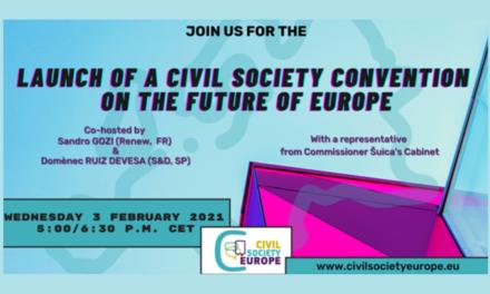 Civil Society Europe – Rejoignez la Convention de la société civile sur l'avenir de l'Europe