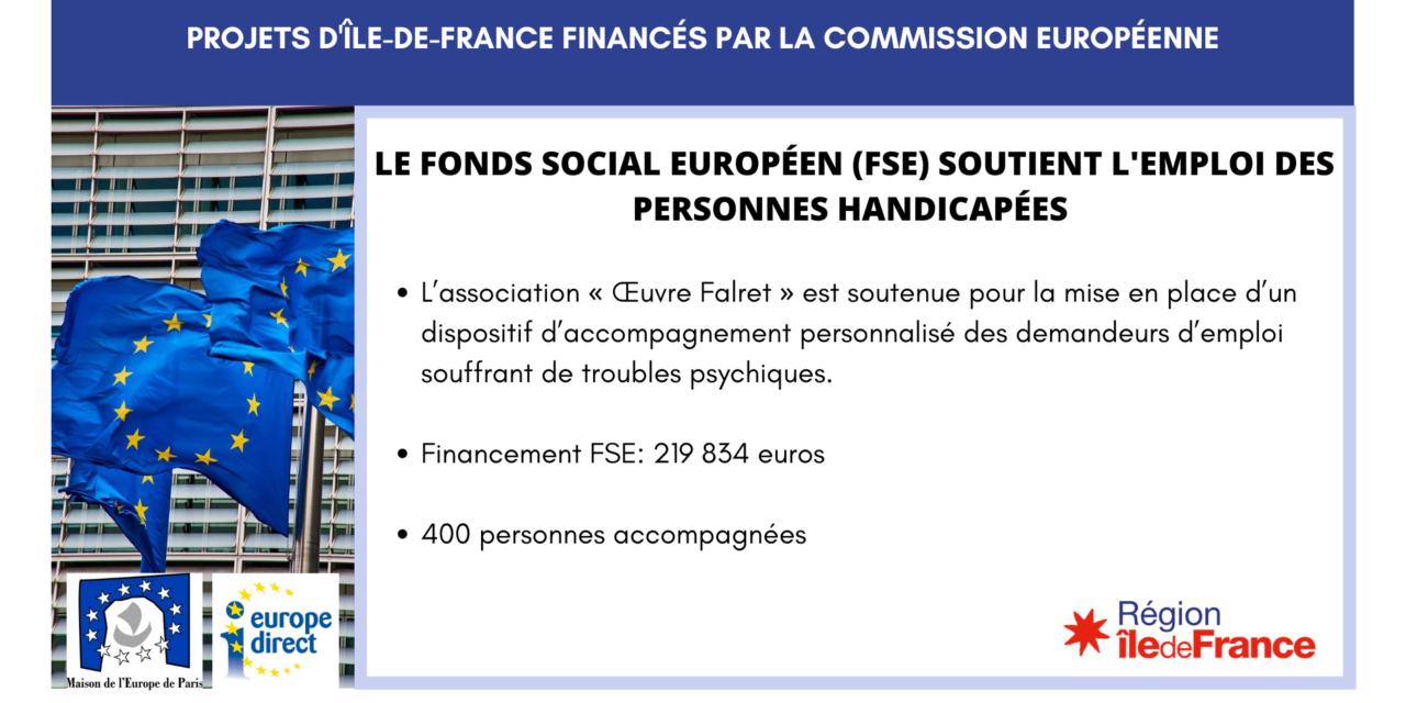 Projet IDF – le Fonds social européen (FSE) soutient l'emploi des personnes handicapées