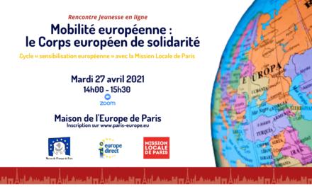 Mobilité européenne : le Corps européen de solidarité