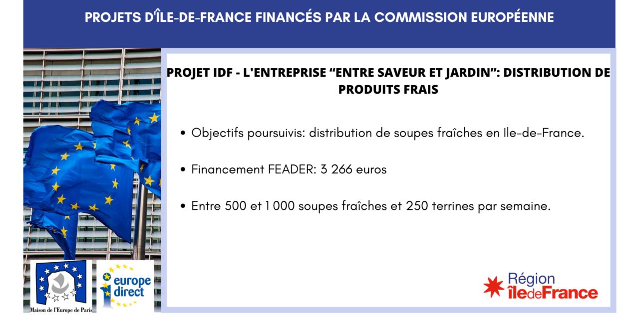 """Projet IDF – l'entreprise """"Entre saveur et jardin"""": distribution de produits frais"""