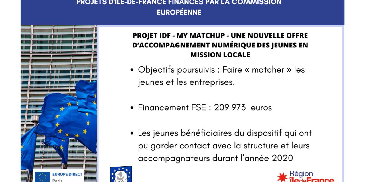 Projet IDF : My MatchUp – Une nouvelle offre d'accompagnement numérique des jeunes en Mission Locale