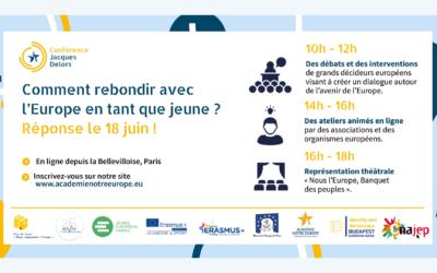 """""""Parcourir l'Europe"""" avec la Conférence Jacques Delors"""