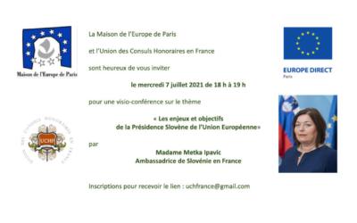 Les enjeux et objectifs de la Présidence Slovène de l'Union européenne