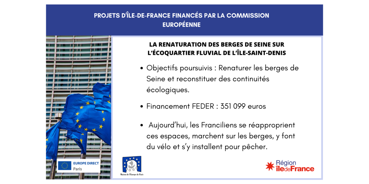 Projet IDF : réaménagement en écoquartier fluvial d'anciennes friches industrielles à L'Île-Saint-Denis