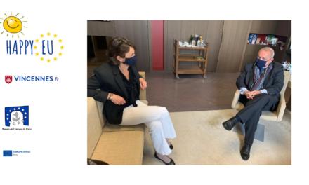 Rencontre du Président de la Maison de l'Europe de Paris avec Madame la Maire de Vincennes