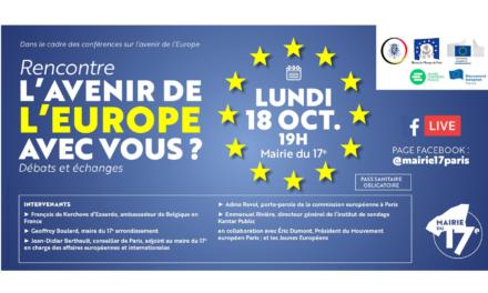 MAIRIE DU 17E – Conférence sur l'avenir de l'Europe