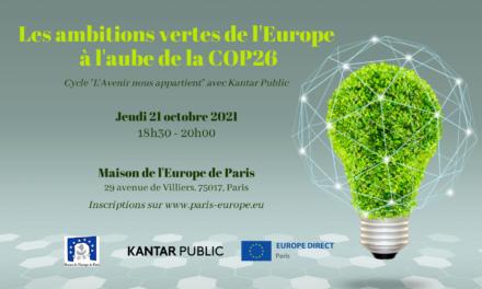 Les ambitions vertes de l'Europe à l'aube de la COP26