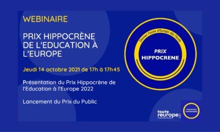 Webinaire d'information sur le Prix Hippocrène de l'éducation à l'Europe