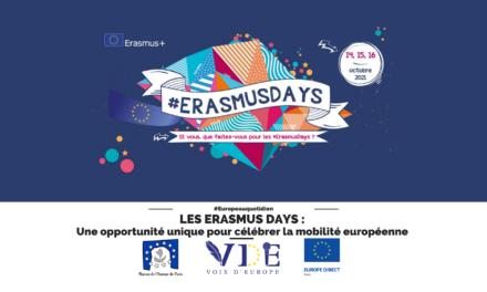 Les Erasmus Days : une opportunité unique pour célébrer la mobilité européenne !